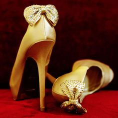 Gold Bridal Shoe