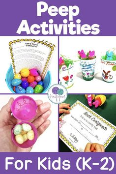 Adopt A Peep is a great Easter activity for kids.  Students will love adopting an Easter peep for the day, giving it a name, birth certificate and making it a baby book.  Such a fun Easter peep activity!  #easter #easterpeeps #easteractivtiesforkids