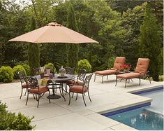 """Get ready for fun in the sun right in your own patio! Whether for lounging around in the garden or by the pool or hosting a series of summer parties, you do want your patio setting to be """"real cool""""—both temperature-wise and style-wise. So we've done some online shopping for you to present these 10 stylish patio umbrella ideas that are sure to make you excited for those sunny summer days! Style #1: Modern Sundeck Setting Just the thing for outdoor buffet or potluck parties, with a sleek…"""