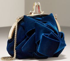 Christian Louboutin Velvet Purse -- look at the closure! love this! Now where would I use it?