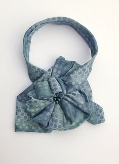 Ladies Silk Necktie Scarf / Upcycled OOAK Scarflette / Perry Ellis Portfolio in lavender & blue green