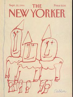 The New Yorker - Monday, September 1986 - Issue # 3214 - Vol. 62 - N° 31 - Cover by Robert Tallon The New Yorker, New Yorker Covers, Cover Pages, Cover Art, Thing 1, September 22, Beautiful Cover, Vintage Magazines, Paris