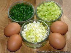 GRUNT TO PRZEPIS!: Pasta jajeczna z porem, szczypiorkiem i świeżym ogórkiem