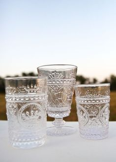 CLEAR LOUIS GLASSWARE - Junk GYpSy co.