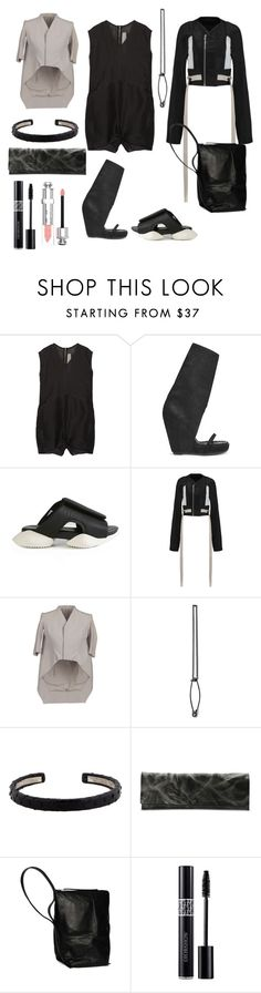 """""""day night in black"""" by esposito-alicya on Polyvore featuring Rick Owens, Maison Margiela, Christian Dior, DayToNight and romper"""