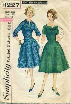 Vintage Dress Pattern,  Simplicity 3227