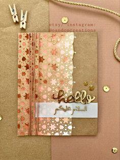 Ramadan Cards, Eid Cards, Greeting Cards, Eid Mubarak Card, Ways To Say Hello, Handmade Cards, Islamic, Card Stock, Connect
