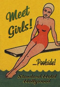 Meet Girls! ....Poolside! ~ This would be adorable hung in a lake house or even a bathroom!!