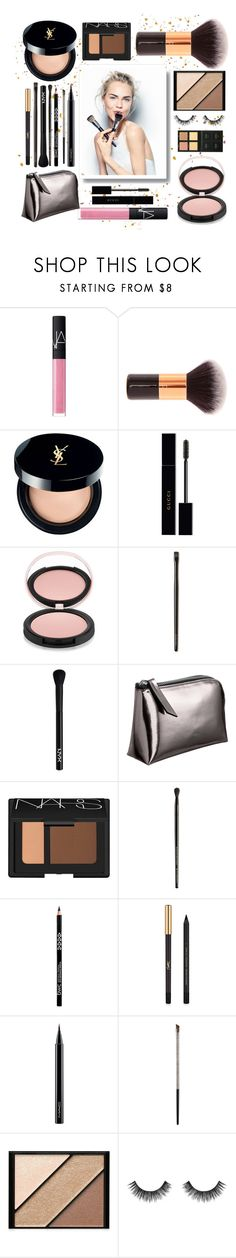 """""""Morning Beauty"""" by malrocs-polyvore ❤ liked on Polyvore featuring beauty, Sephora Collection, NARS Cosmetics, Yves Saint Laurent, Gucci, Estelle & Thild, Laura Mercier, NYX, Illamasqua and MAC Cosmetics"""