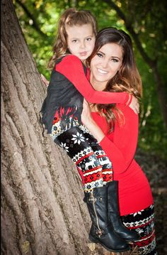 Mommy and Me Holiday Velvet Reindeer Leggings Black - Ryleigh Rue Clothing by Modern Vintage Boutique
