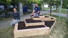 Couple Build A Raised Garden On Their Front Lawn To Grow Food For Themselves & Their Neighbors... - http://www.ecosnippets.com/gardening/couple-build-a-raised-garden/