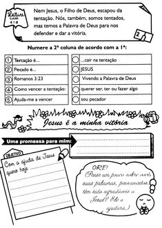 É muito importante que a criança tenha momentos diários com Deus, para que ela entenda que o Senhor Tem que fazer parte da sua vida em todos... Kids Atv, Sheet Music, Bullet Journal, Activities, Kids Bible Activities, Teaching Activities, Infant Activities, Sunday School Lessons, Kids Study