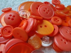Orange Button Mix 1030mm 3050 Buttons by Spasojevich on Etsy, $2.20