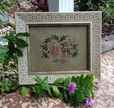 Merry One by Plum Street Samplers, stitched by Terri