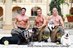 Nothing sexier than men supporting a humane society.  This is the South Florida 2012 Firefighters calendar supporting supporting Friends Forever Humane Society