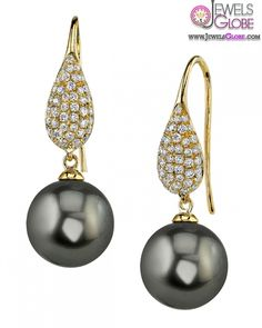 Latest Fashion of Tahitian Pearl Earrings - Top Jewelry Brands, Designs & Online Jewellery Stores Tahitian Pearl Earrings, Black Pearl Earrings, Tahitian Pearls, Cultured Pearls, Pearl Jewelry, I Love Jewelry, Jewelry Design, Jewelry Accessories, Fashion Accessories