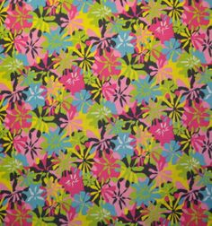 Hawaii Fabric Mart. So glad they're still in business. Unbelievable (as in GOOD) prices.  Love this Flower Power print, but should also check out their barkcloth...lots of pretty patterns.  SUNP0004