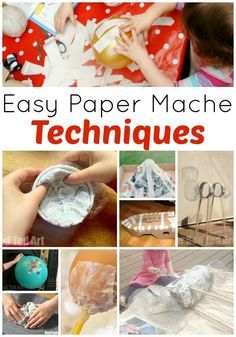 Paper Mache Techniques 2019 Paper Mache Techniques learn about different ways to create papier mache! So many fun techniques and paper mache projects for kids! The post Paper Mache Techniques 2019 appeared first on Paper ideas. Paper Mache Crafts For Kids, Paper Mache Diy, Paper Mache Paste, Paper Mache Bowls, Making Paper Mache, Paper Mache Projects, Paper Mache Sculpture, Diy Paper, Paper Art