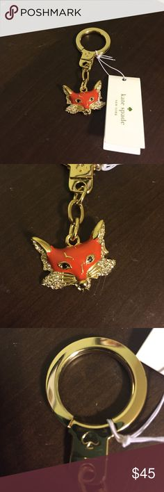 NWT Kate spade fox keychain NWT Kate spade fox keychain from the new collection! So sassy and perfect for your key ring. No trades and please use offer button. kate spade Accessories Key & Card Holders