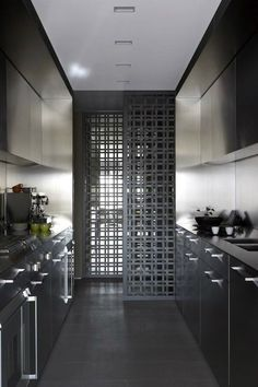 This is a good screening idea to let in the light to a dark kitchen.