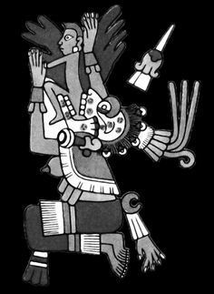 Mictecacihuatl, consort of Mictlantecuhtli and Lady of the Dead.Her role is to keep watch over the bones of the dead. She presided over the ancient festivals of the dead, which evolved from Aztec traditions into the modern Día de Muertos (Day of the Dead) after synthesis with Spanish cultural traditions.It is believed that she was born, then sacrificed as an infant. Mictecacihuatl was represented with a defleshed body and with jaw agape to swallow the stars during the day.