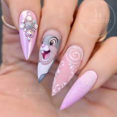 Fantabulous Pointy Nails Designs You Would Love To Have : Pointy nails can look scary and dangerous if you do not know the ways to handle them. Fear no more, we know the best designs to tame this shape! Disney Acrylic Nails, Best Acrylic Nails, Acrylic Nail Designs, Nail Art Designs, Cute Nail Art, Cute Nails, My Nails, Diy Ongles, Nail Drawing