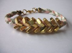 Suede Chevron Bracelet by clcarrol16 on Etsy, $15.00