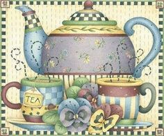 TEAPOT AND CUPS *