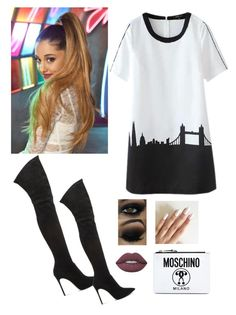 """Inspired Ariana Grande"" by oken-demir on Polyvore featuring Casadei, Lime Crime and Moschino"