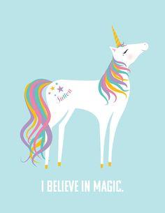 Customizable I Believe in Magic Unicorn with