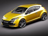 Renault Megane RS 2011 Model available on Turbo Squid, the world's leading provider of digital models for visualization, films, television, and games. Megane Rs, Renault Megane, Cool Cars, Race Cars, Dream Cars, Vans, Racing, Trucks, Vehicles