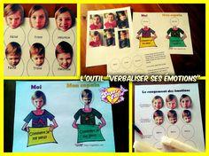 "Outil ""verbaliser ses émotions"" lors d'un conflit Baseball Cards, Teaching Tools, Behavior, Coloring Pages, Children"