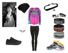 """""""Life Isn't Perfect With The Cute Guy"""" by demonlover2002 ❤ liked on Polyvore featuring Converse"""