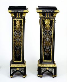 Pedestals, André-Charles Boulle (French, 1642-1723)