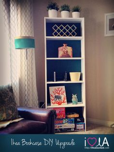AFTER   Ikea Bookcase DIY Project!