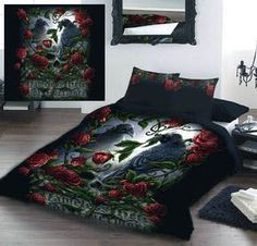 She Black Dragon - Sorrow for the lost - Double and King Size duvet set. From - This is a stunning Duvet set, the Fantasy Gothic look transforms your bedroom into something very special. From ANGEL CLOTHING Duvet Bedding Sets, Bed Duvet Covers, Duvet Cover Sets, Comforters, Dorm Bedding, Pottery Barn, King Size Duvet Sets, Double Bed Size, Double Duvet