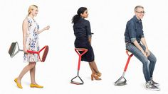 The New Office Chair: Portable, Lightweight, And Shaped Like A Pogo Stick