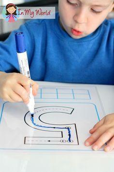 Volver a los centros preescolares en la Escuela - El número de trazado con la formación correcta
