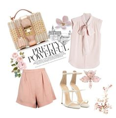 """""""Rose Flower"""" by emina-la ❤ liked on Polyvore featuring Finders Keepers, MaxMara, Giuseppe Zanotti and Mark Cross"""