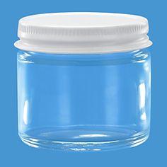 Straight-Sided Glass Jars - 2 oz, Metal Lid S-15846M