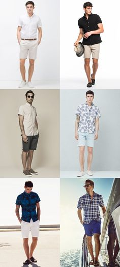 Men's Short-Sleeved Shirts With Shorts - Spring/Summer Outfit Inspiration Lookbook