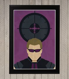 Hawkeye Minimalist Retro Poster Movie Poster Art by CultClassix