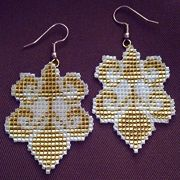 Classique Earrings Beading Pattern by Lenni Cramer at Bead-Patterns.com