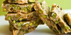 Caramel brittle, studded with pistachios, fructose-free and high in protein from Bare Blends protein powder. Could this dessert get ANY better?