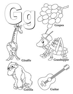 My A to Z Coloring Book -- Letter G