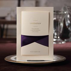About The Cards:  1) Item: Elegant Invitation Cards With Purple Ribbon Bow  2) Card Size: 7.3 x 5 (18.5*12.8cm)  3) Material: Card Paper  4) Card