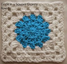 Circle in a Square Granny:    Wade's Blanket CAL (Part 1)