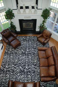 """Wild Zebra 11'6""""x15'"""