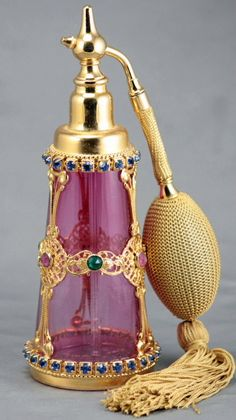Perfume Bottles Etc. - Perfume Bottles, Perfume Atomizers By Hoffman, Ingrid, DeVilbiss, Pyramid and Volupe