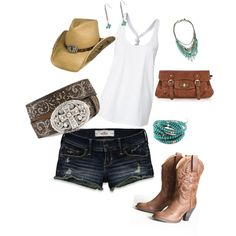 Cowgirl-love. I've been really into the country-style lately. I'd wear all of this... minus the hat. It's a little too far for me.